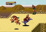 Golden Axe III Genesis Barbarian with the back breaker wrestling move