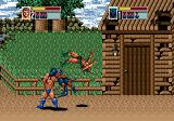 Golden Axe III Genesis Tender Hamlet: another teammove, Ax swinging the panther around
