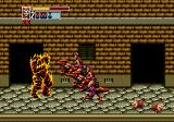 Golden Axe III Genesis Cursed City: set on fire by a red dragon, those pieces of meat restore your health