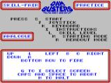 The Dam Busters ZX Spectrum Main menu