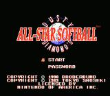 Dusty Diamond's All-Star Softball NES Title Screen