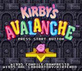 Kirby's Avalanche SNES Title screen