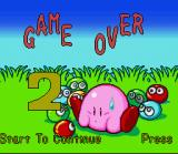Kirby's Avalanche SNES Game Over!