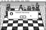 Battle Chess Macintosh Computer declares the game a stalemate and how happy it is about it!