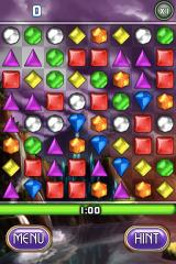 Bejeweled 2 Deluxe iPhone One minute to get your best score in Blitz.