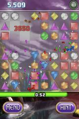 Bejeweled 2 Deluxe iPhone A nice string of points, confetti and all.