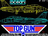 Top Gun ZX Spectrum This is the load screen from the Hit Squad re-release. The copyright information is different and there is a countdown timer that decreases as the game loads