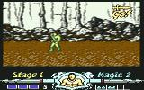 Golden Axe Commodore 64 An arrow telling you to move on