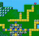 Godzilla 2: War of the Monsters NES The first level's battle map