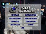 Jane's Combat Simulations: Fleet Command Windows Main menu