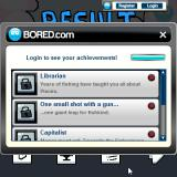 Radical Fishing Browser Some achievements tied to the Bored.com website