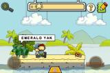Scribblenauts Remix iPhone I guess an emerald yak won't help the man escape the deserted island? Let's try something different...