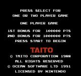 Rainbow Islands NES Select the number of players