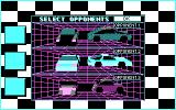 Stunt Driver DOS Great AI, All Opponents Reacted Very Differently (CGA)