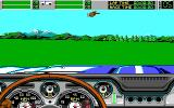 Stunt Driver DOS Out of a course (EGA/Tandy 16 colors)