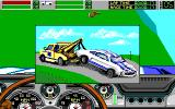 Stunt Driver DOS Carried by wrecker after crash (EGA/Tandy 16 colors)