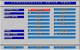 Stunt Driver DOS Communication Setup Menu (VGA 16 colors)