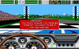 Stunt Driver DOS Begin with Warning (VGA 16 colors)