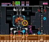 Super Metroid SNES Our heroine, Samus, fighting the first form of Mother Brain