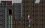 Commander Keen 4: Secret of the Oracle DOS Riding platforms in a cave (EGA)