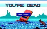 Roller Coaster Rumbler DOS You're dead (Game over) (EGA)