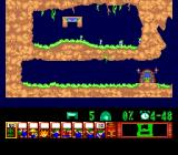 Lemmings TurboGrafx CD First level. Very simple