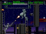 RoboCop Versus the Terminator SNES Terminator endoskeletons can climb ladders, jump from platform to platform, shoot in 8 directions, and basically can do everything you can. Very impressive for such an early game.