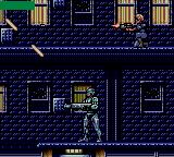 RoboCop Versus the Terminator Game Gear Shooting diagonally