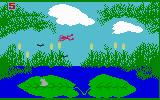 Frog Bog Intellivision Jumping through the air...