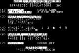 War in the South Pacific Apple II Options screen