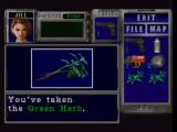 Resident Evil 3: Nemesis PlayStation Green herbs are helpful in restoring your health