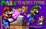 Mario Teaches Typing DOS Title screen (EGA, Tandy)