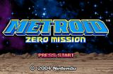 Metroid: Zero Mission Game Boy Advance The title screen.