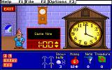 Treasure MathStorm! DOS Earn items for telling the time! (MCGA/VGA)