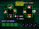 The King of Fighters: Evolution Dreamcast Select the order.
