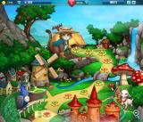 Pet Rescue Saga Browser The game map. Photos blurred for privacy.