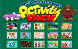 Putt-Putt and Fatty Bear's Activity Pack Windows Menu