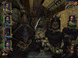 Might and Magic IX Windows Fearsome skeletons attack you on the Island of Ashes