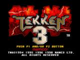 Tekken 3 PlayStation Title screen.