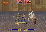 Golden Axe Arcade Knight with sword, armor and shield is troubling enemy