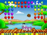 Putt-Putt and Pep's Balloon-o-Rama Windows Rainbow balloons!