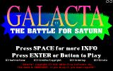 Galacta: The Battle for Saturn DOS Title screen (MCGA/VGA)