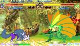 Darkstalkers: The Night Warriors Arcade Blocking a sonic attack by Merman Rikuo.