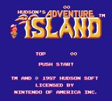 Adventure Island NES U.S. title screen