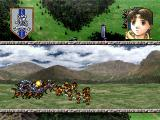 Suikoden II PlayStation Fights are shown this way during tactical battles