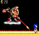 Sonic Blast Game Gear Sonic beats him again when will he ever learn