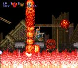 Contra III: The Alien Wars SNES Perfect timing is needed for the fire obstacle