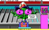 Space Quest III: The Pirates of Pestulon DOS The hilarious seller at Monolith Burger