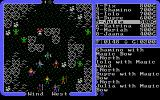Ultima IV: Quest of the Avatar DOS Fighting somewhat comically-looking green monsters in a mountainous area