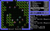 Ultima IV: Quest of the Avatar DOS Battle in a forest clearing against some gay dudes. No, seriously, look at the color of their shirts!..